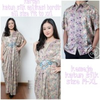 Rifda Couple batik 2in1 dress maxi panjang kaftan dan atasan M – XL