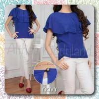 Harga pakaian wanita blouse tangan pendek bahan matt | antitipu.com