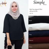 Baju wanita blouse tunik simple muslim modern unik lucc trendi