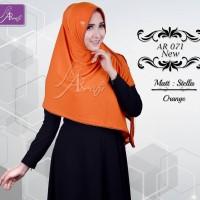 Bergo Veena (Warna Orens) Ar71N Hijab Kerudung Jilbab Instan Khimar