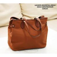 Grosir tas wanita import branded LACOSTE NIVERFULLS /totebags murah