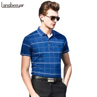New Fashion Brands Polo Shirt Men 2018 Quality Striped Slim Fit  Men&#