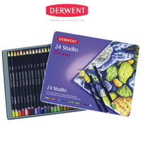 DERWENT Studio Pencils 24 / Studio Colouring Pencils Set 24
