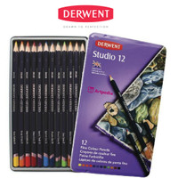 DERWENT Studio Pencils 12 / Studio Colouring Pencils Set 12