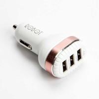 VIVAN ROBOT 3 USB PORTS 4 8A CAR CHARGER ORIGINAL