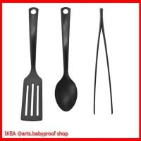 IKEA GNARP - Set 3 Unit Peralatan Dapur Hitam