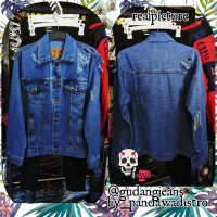 PROMO jaket jeans jaket sobek jaket ripped jaket levis jaket pria dan
