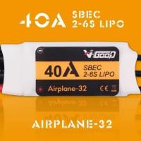 V-GOOD Airplane32 40A ESC 2-6S SBEC 5.5V 5A Smooth 32bit MCU