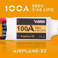 V-GOOD Airplane32 100A ESC 2-6S SBEC 5.5V 10A Smooth 32bit MCU