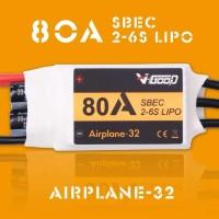 V-GOOD Airplane32 80A ESC 2-6S SBEC 5.5V 10A Smooth 32bit MCU