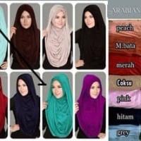 Jilbab Instan Hijab Instan Segiempat Arabian Hoodie Versi Premium