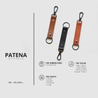 Gantungan Kunci/Keychain Kulit Asli (Gratis Ukir Nama/Logo) | PATENA