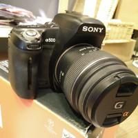 kamera sony a500 alpha dslr ngga pake mahal