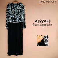 Baju Muslim Dress Gamis Hamil dan Menyusui Aisyah
