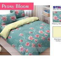 Sprei murah merk star / bintang kecil motif peony bloom 2 uk 180 x 200