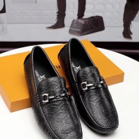 Jual sepatu kulit loafer lv louis vuitton leather shoes kw mirror 1:1