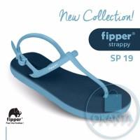 Sandal Fipper Strappy - Navy Blue [SP 19] - ORIGINAL
