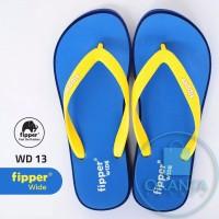 Sandal Fipper Wide - Blue Navy Yellow [WD 13] - ORIGINAL