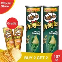 [Buy 2 Get 2 Free] Pringles Salt Seaweed 110gr Free CheesyCheese 110gr