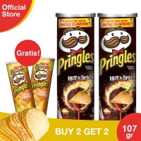 [Buy 2 Get 2 Free] Pringles Hot&Spicy 110gr Free CheesyCheese 110gr