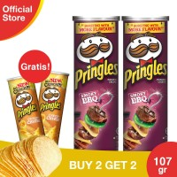 [Buy 2 Get 2 Free] Pringles Barbeque 110gr Free CheesyCheese 110gr