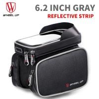 Wheel Up Tas Sepeda Double Bag Smartphone 6.2 Inch - Hitam/Silver