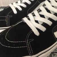 Vans Classic Sk8 Black White Klasik Tinggi Skate Hitam Putih Sepatu