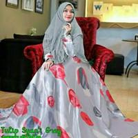 Syari Tulip Abu Baju Muslim Wanita HITS Gamis Syari Model HITS
