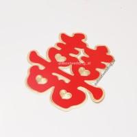 Suangsi Plastik lapis Bludru Xuang Xi Double Happiness isi 2