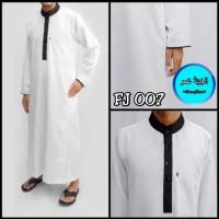 TERLARIS baju gamis putih pria - jubah pria dewasa - baju muslim pria
