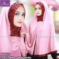Jilbab Instan Syari Adiba (Med Pink) By Arrafi Jilbab Kerudung Hijab