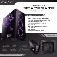 Casing Gaming Komputer PC CPU INFINITY SPACEGATE Full T Berkualitas