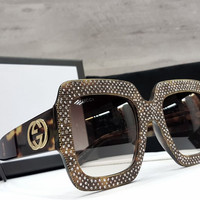 new Gucci Rhinestone Sunglasses   Kacamata Hitam Wanita Branded GG jc ffa6565c84