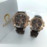 new JAM TANGAN COUPLE SEPASANGAN AIGNER JAM PASANGAN COUPLE rc