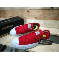 Sepatu Converse All Star CT2 LunarLon Low Red - Grade Ori Vietnam