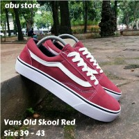 Sepatu Pria Vans Old Skool Red - Sepatu Sekolah Vans Merah