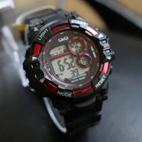 DMP jam tangan pria QnQ murah anti air jtr 1182 merah ilf