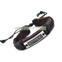 Promo JWLB0080 Gelang Kulit Pria Best Friend Leather Bracele ilf