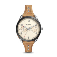 Jam Tangan Wanita Fossil Original ES4175 Tailor Tan Leather