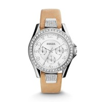 Jam Tangan Wanita Fossil Original ES3889 Riley Light Brown