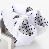 Jual Sepatu prewalker pesta bayi import high heels putih pita white ribbon Murah