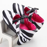 Jual Sepatu prewalker pesta bayi import high heels zebra putih hitam pita Murah