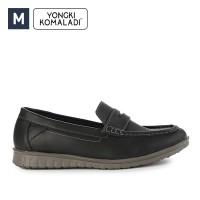 Sepatu Yongki Komaladi Pria Slip on 88 Leather Black