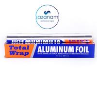 ALUMINUM FOIL TOTAL WRAP 7.6M X 300MM PEMBUNGKUS MAKANAN ALUMINIUM