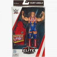 KURT ANGLE ACTION FIGURE MATTEL WWE ELITE 59 MOC MAINAN TOY