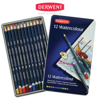Derwent Watercolour Pencil Tin 12 - Pensil Derwent Set 12