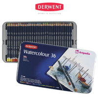 Derwent Watercolour Pencil Tin 36 - Pensil Derwent Set 36