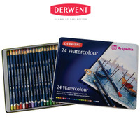 Derwent Watercolour Pencil Tin 24 - Pensil Derwent