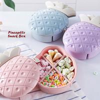 Kotak Toples Snack Kue Permen Kacang Bentuk Nanas Pineapple Snack Box