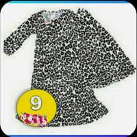 Baju muslim setelan anak 2-5thn gamis syari jilbab maxy maxi motif 9